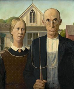 American gothic, Grant Wood (1930)